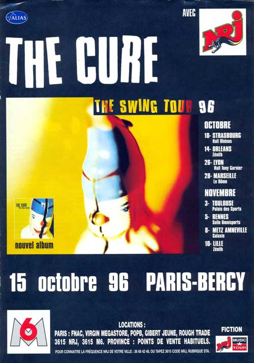 The Cure live concert: 10 11 1996 Lille - Zenith Arena (France)