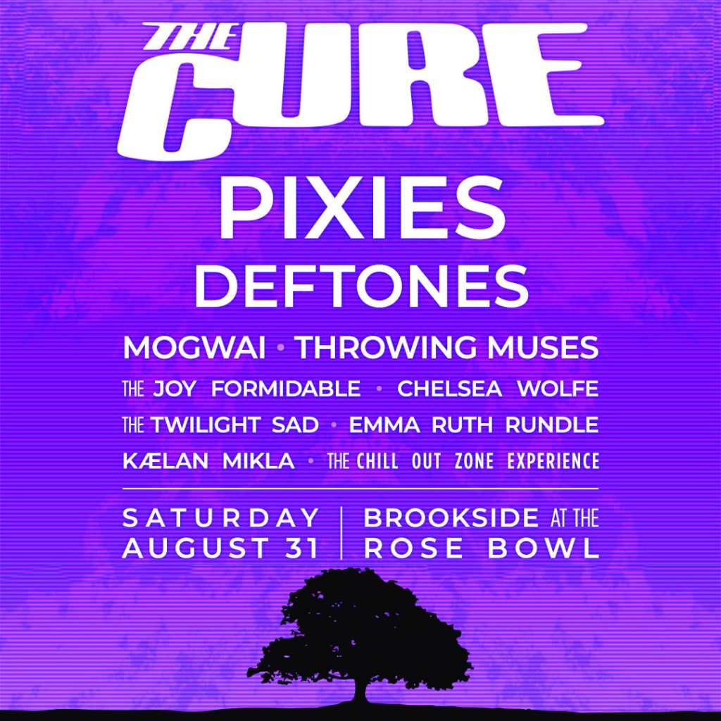 The Cure live concert: 31 08 2019 Pasadena - Brookside at