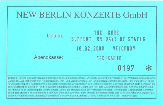 The Cure Tickets Berlin